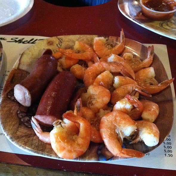 Boiled shrimp @ The Shell House