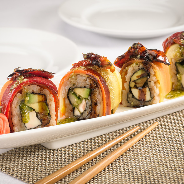 Vegetable Rainbow Roll - Tamo, Boston, MA