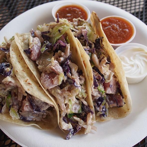 Seared Wasabi Ahi Tacos