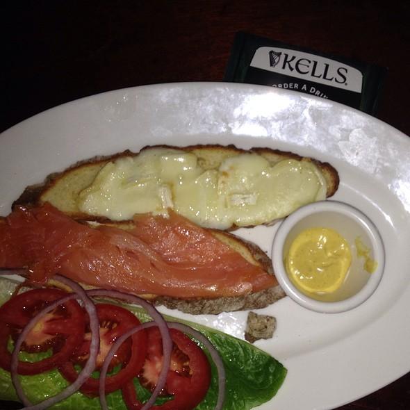 Salmon & Brie On Ethna's Irish Soda Bread - Kells Irish Restaurant & Bar, Seattle, WA