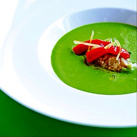 Cold Zucchini And Mint Soup - Rouge, Miami Beach, FL