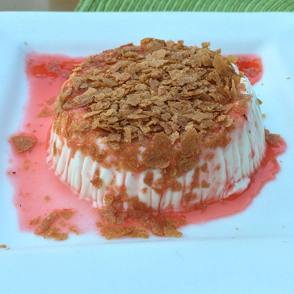 Vanilla Panna Cotta Strawberry Coulis - Citrus Grillhouse, Vero Beach, FL