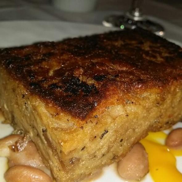 Roasted Flying Pigs Farm Pork Presse with stewed cranberry beans, butternut squash purée & sautéed swiss chard... - Mas (farmhouse), New York, NY