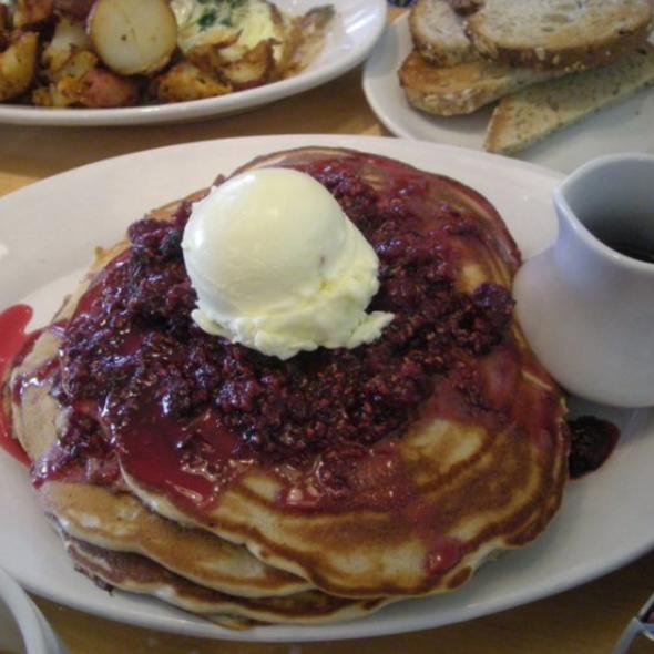 Raspberry Flatcakes @ Morgans Restaurant