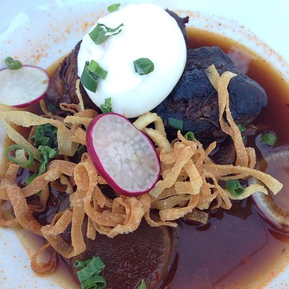 Pork Cheek Egg & Crispy Noodle - Luna Red, San Luis Obispo, CA