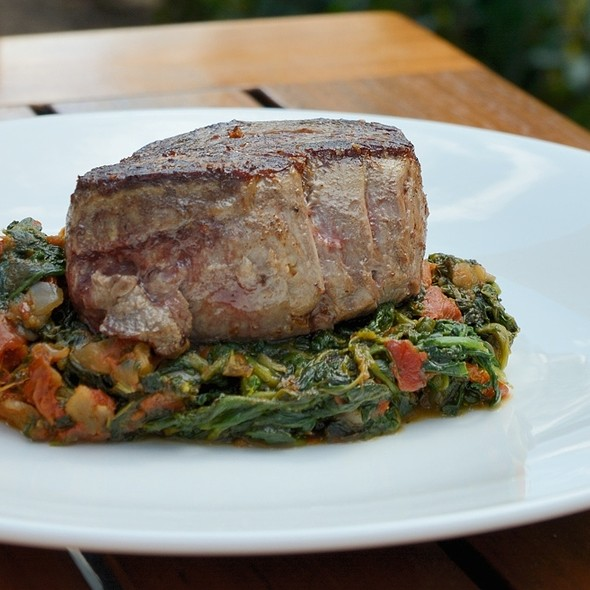 Filet Steak with Spinach and Vegetables @ Rizzi