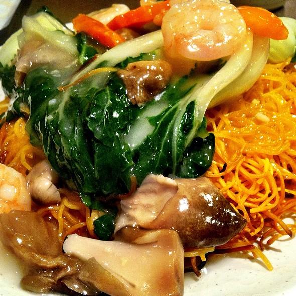 Shrimp W/ Pan Fried Noodles @ Gum Kuo Restaurant