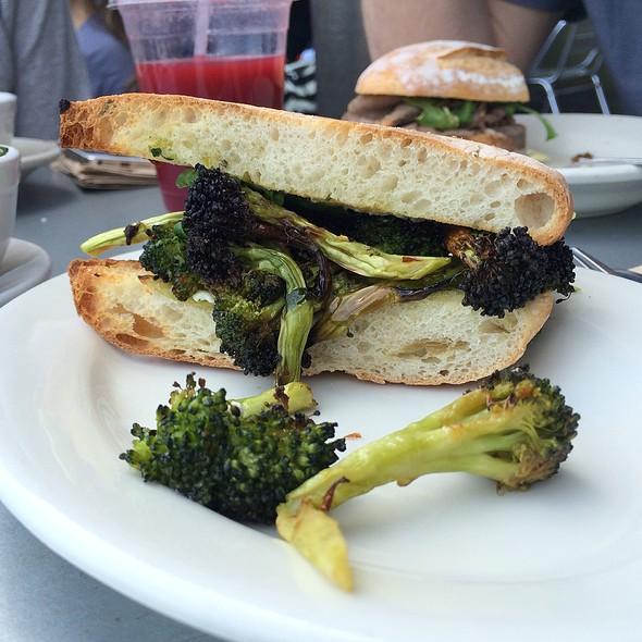 Chile-Braised Broccoli Sandwich