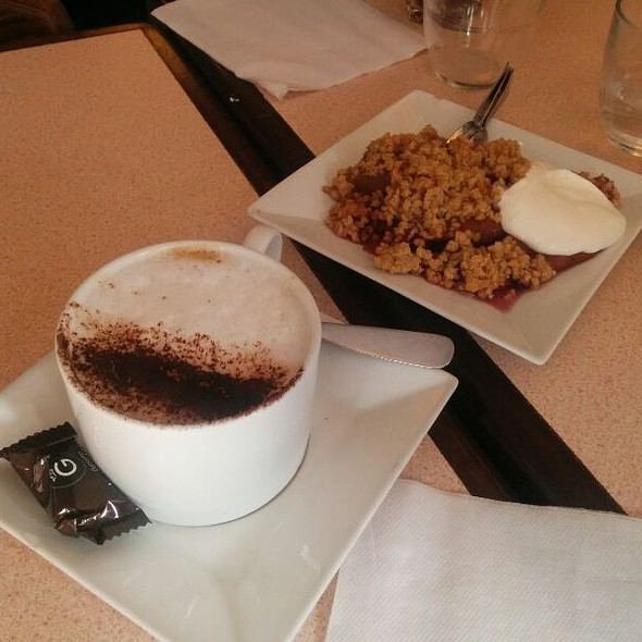 Cappuccino et Crumble aux pommes @ Ebouillanté