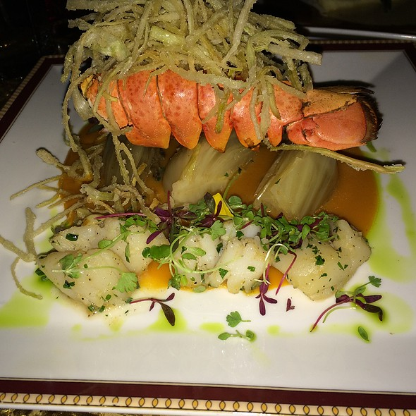 Scallop Stuffed Lobster Tail