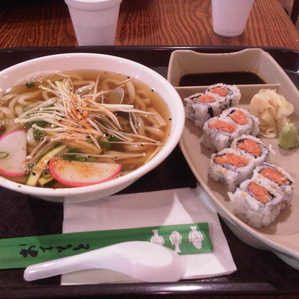 Spicy Tuna Sushi And Udon @ H Mart