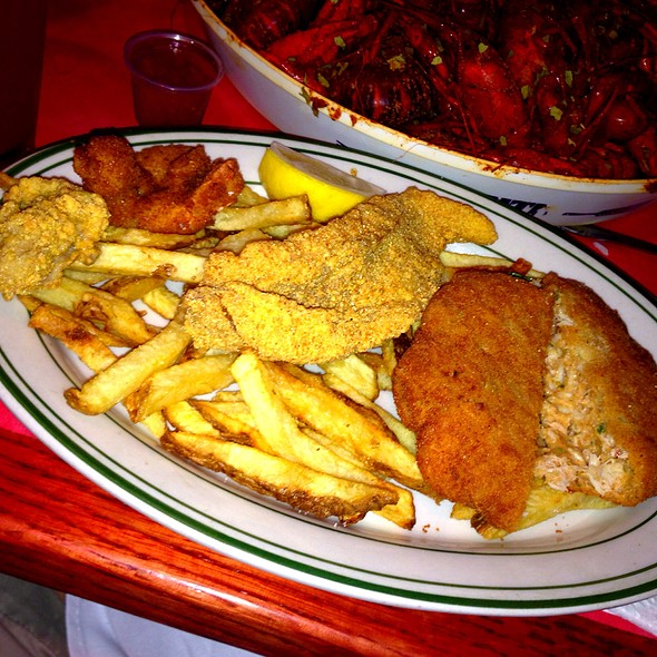 Fried Seafood Platter @ Nates Seafood & Steak House
