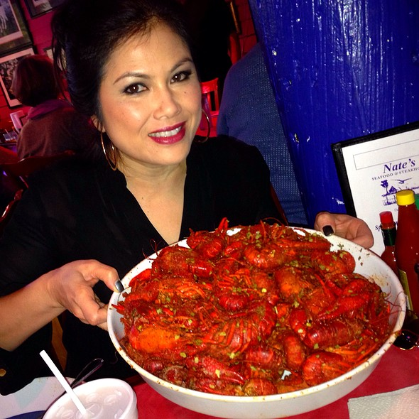 Cajun boiled crawfish @ Nates Seafood & Steak House