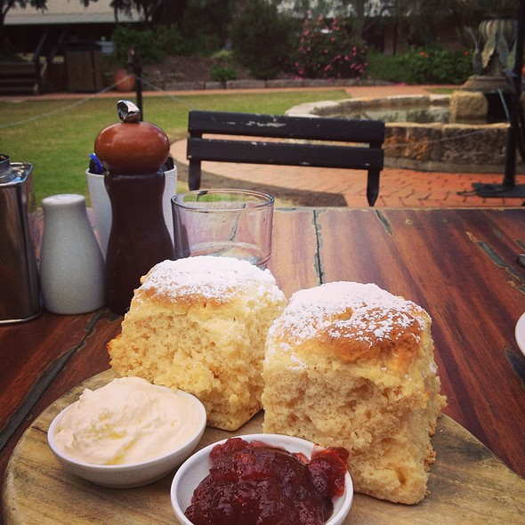 Scones With Jam & Cream @ Cafe Enzo