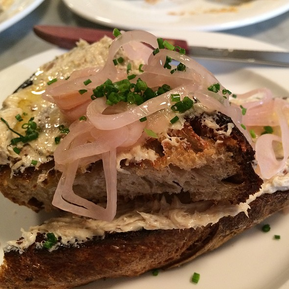 Herring Rilette On Toast With Pickled Shallots @ The Whale Wins
