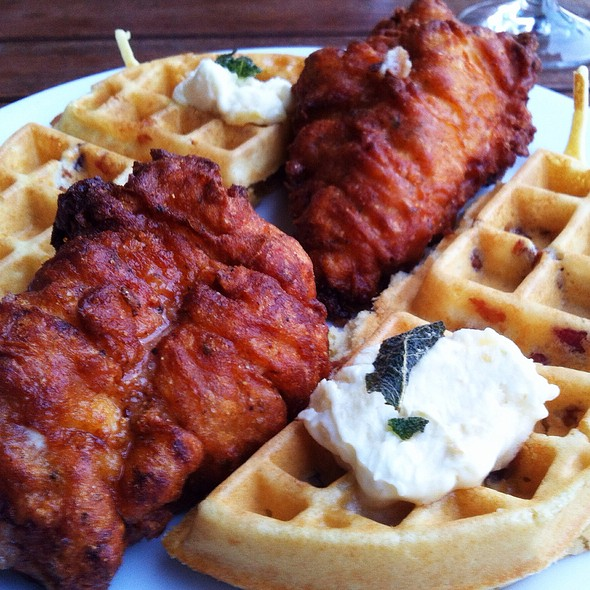 Chicken and Waffles @ The Pear