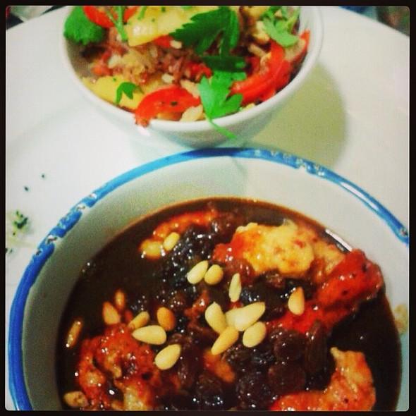 shrimps sweet &sour and korean  @ Santo Restaurante & Deli