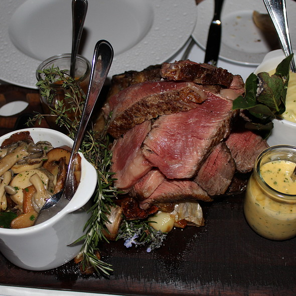 roasted cote de boeuf 1kg | truffle pommes puree | wild mushrooms @ Ananas Bar & Brasserie