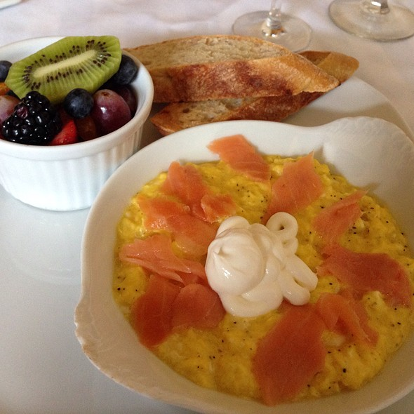 Scrambled Eggs With Smoked Salmon @ Suzette's Creperie