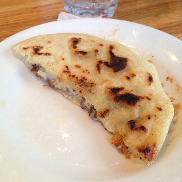 Carne Asada Y Queso Pupusa @ Balompie Cafe #3