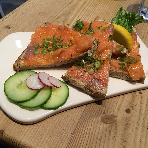 Smoked Salmon Tartine @ Le Pain Quotidien