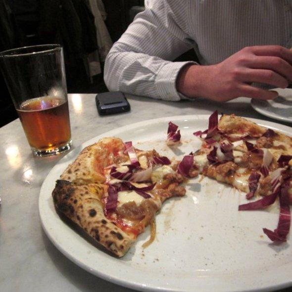 Salsiccia Con Treviso @ Tony's Pizza Napoletana