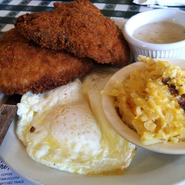 Fried Pork Chops And Eggs