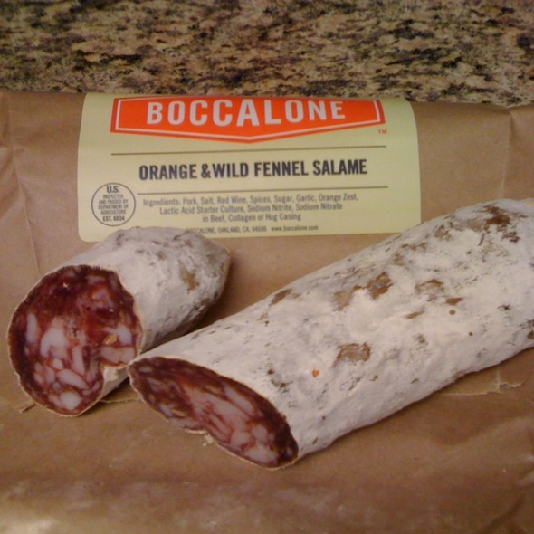 Orange & Wild Fennel Salame @ Boccalone Salumeria