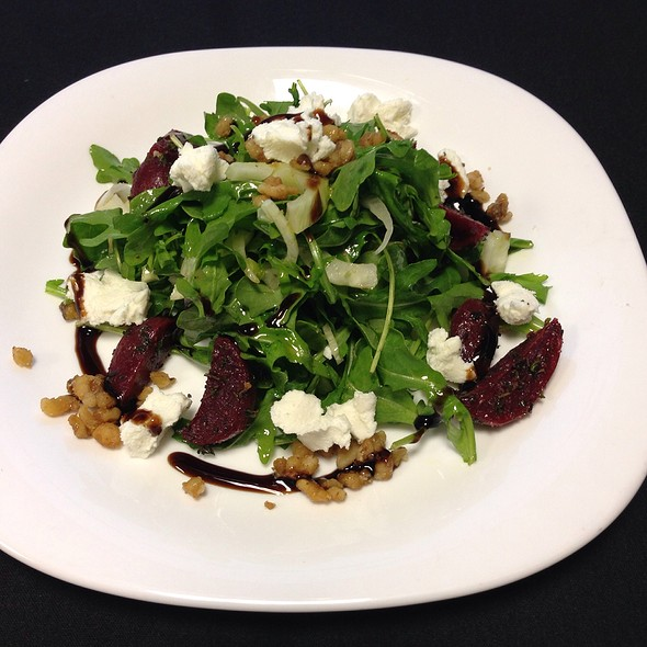 Arugula Salad With Roasted Beets & Goat Cheese - Campania Cafe, Davidson, NC