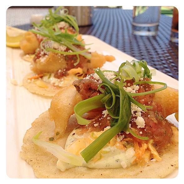 fish tacos @ C-Blue Wet Bar & Bistro