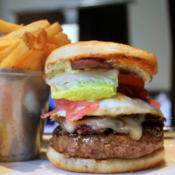 Bacon Cheeseburger with Fried Egg @ Spruce
