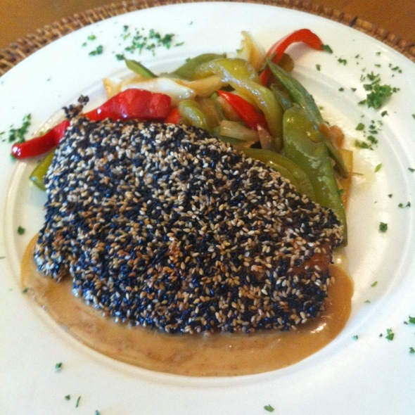 Sesame Crusted Salmon - The Grille on Congress, Boca Raton, FL