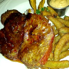 Meatloaf And Fried Green Beans - Paseo Grill, Oklahoma City, OK