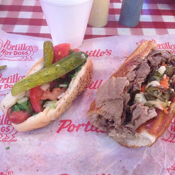 All Beef Hot Dog And Big Beef Hot @ Portillo's