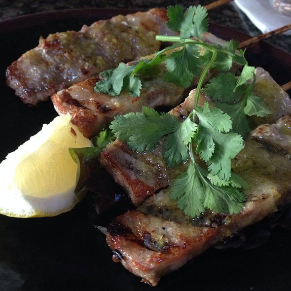 Pork Skewers - Monsoon Café, Santa Monica, CA