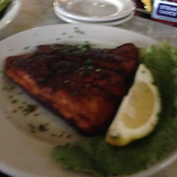 Blackened Salmon - 4th Base Restaurant, Milwaukee, WI