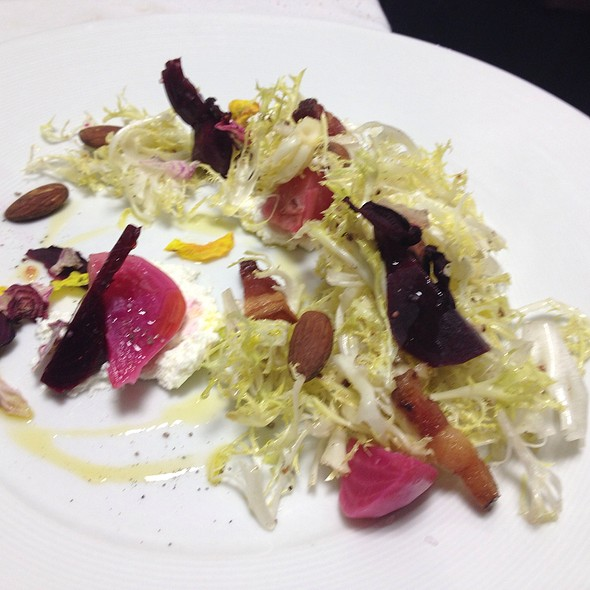 Beet Salad, Goat Cheese Mousse, Blonde Frisee - Elaine's, Albuquerque, NM