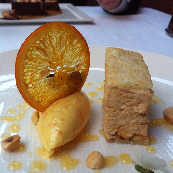Semifreddo Hazelnuts And White Chocolate With Orange - CinCin Ristorante + Bar, Vancouver, BC