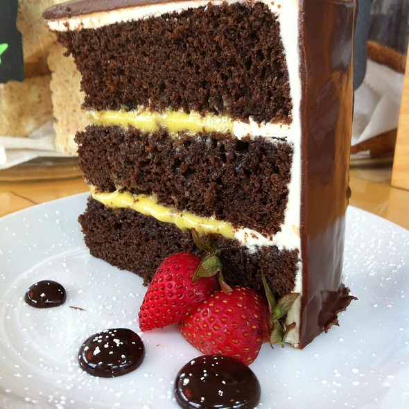Chocolate Cake With Passionfruit Curd Filling @ Gigi BBQ•Noodles•Beer