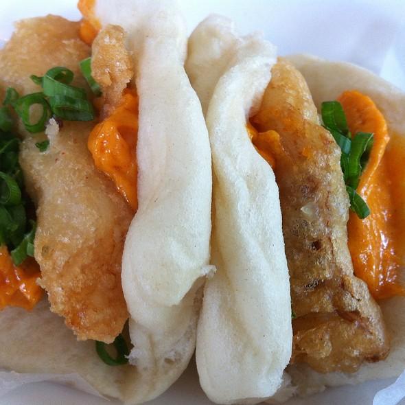 Beer Battered Fish Bun: Gochujang Aioli @ Gigi BBQ•Noodles•Beer