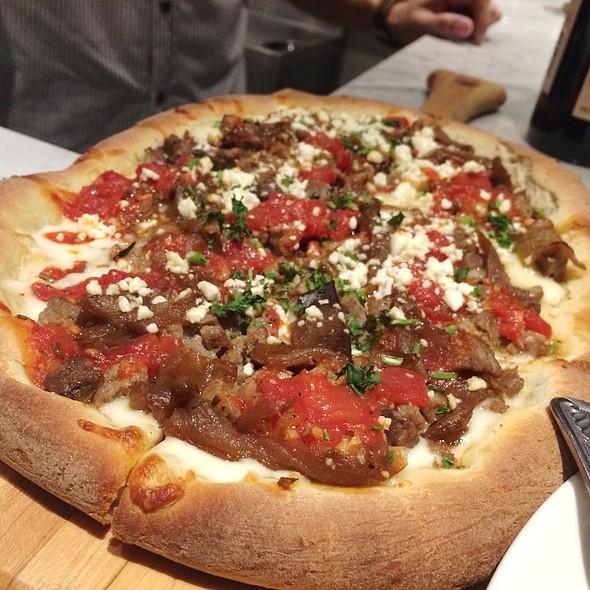 Lamb Sausage Pizza - Vino at Trios, Alhambra, CA