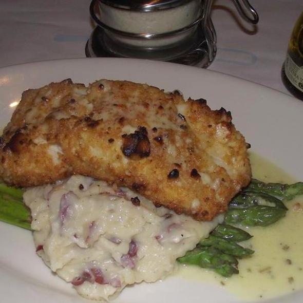 Almond Encrusted Halibuut - Scapa Italian Kitchen, Clarendon Hills, IL