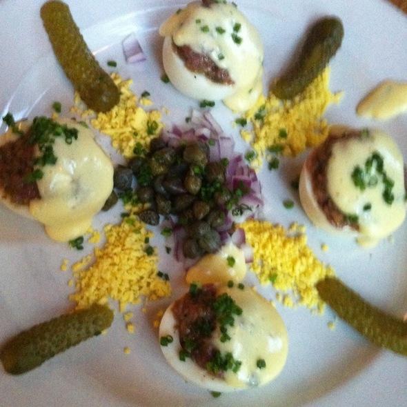 Deviled Eggs (Steak Tartar) @ Ray's The Steaks
