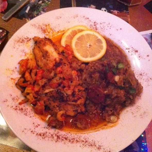 Blackened Catfish And Jambalaya @ Zydeco's