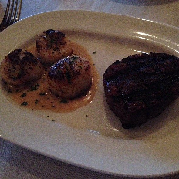 6Oz Filet With 3 Pan Seared Scallops - Ward's House of Prime Milwaukee, Milwaukee, WI