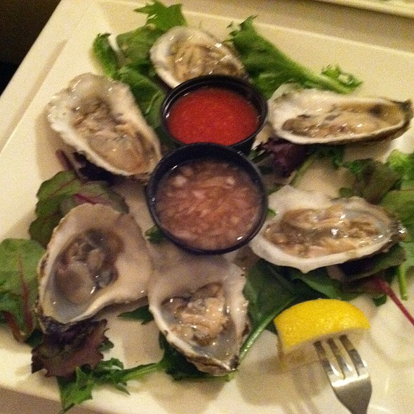 Sewansecott Oysters from Hog Island, VA - Back Burner Restaurant, Hockessin, DE