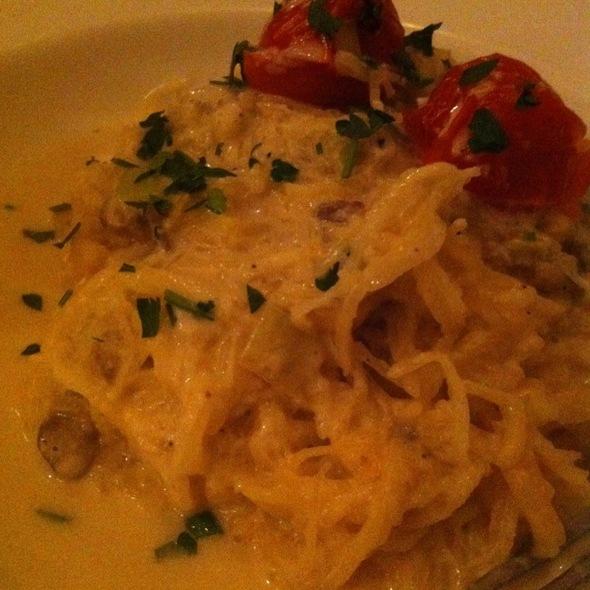 Spaghetti Squash Alfredo @ Blossom Cafe