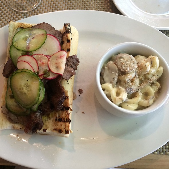 Steak Sandwich With Wild Mushroom Mac N Cheese - The Grove, Houston, TX