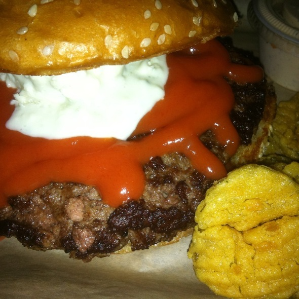 Buffalo Sauce & Blue Cheese Burger @ Twisted Root Burger Co