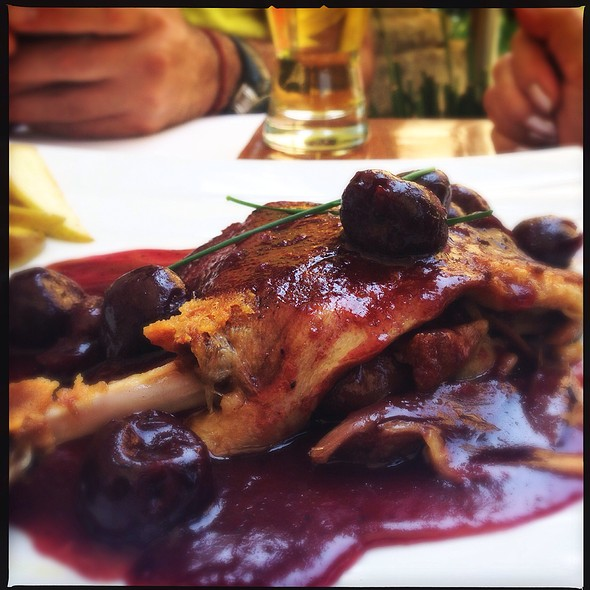Duck In Black Cherry Sauce @ Bistro 83 - San Angel
